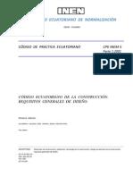 Código Ecuatoriano de la Construcción. Requisitos generales de diseño - Parte 1