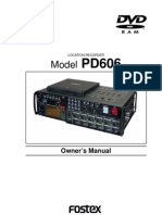 Pd606 Owners Manual