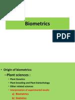 Plant Breeding and Biometrics