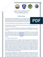 The Notarial Tribunal for The United States of America Public Notice
