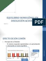 1. EQUILIBRIO HOMOGÉNEO EN DISOLUCIÓN ACUOSA