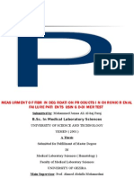 Measurment of Fibrin Degrdation Products in Chronic Renal Failure Patients Using D-dimer Test