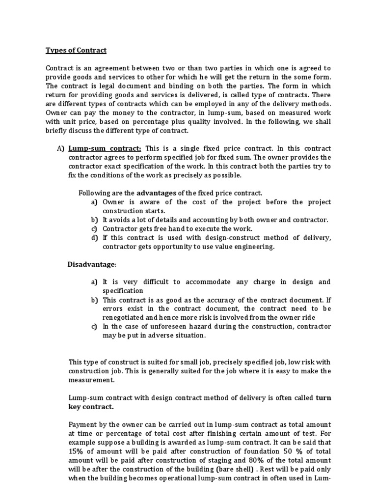 Contract docx | Specification (Technical Standard
