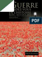 Programme des journées historiques de Blois