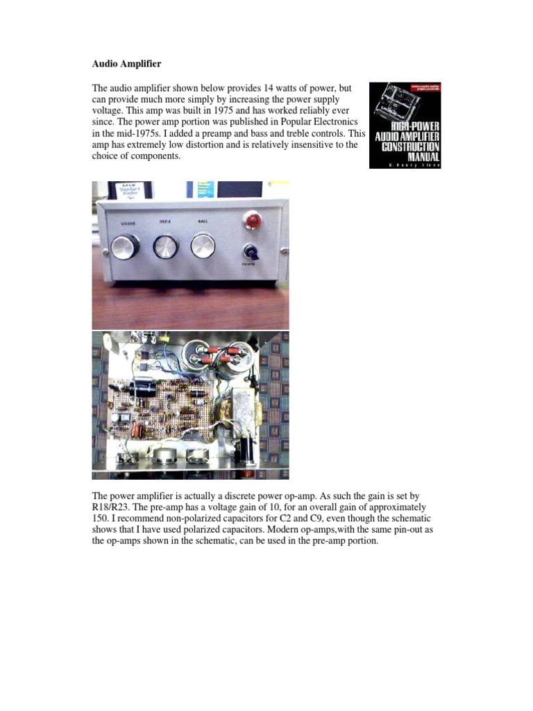 Operational Amplifier 50w Hi Fi Audio Using Tda1514 Electronic Schematic Circuit