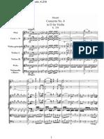 Concierto n°4 en D para violin K-218 de Mozart