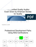 Certified Quality Auditor Certification Overview
