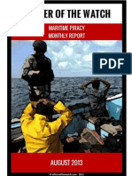 OOW - Piracy Monthly Report 2013.08