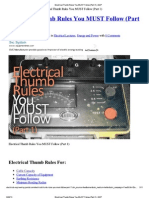 Electrical Rules