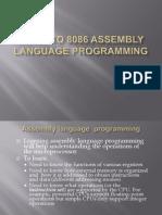 8086 Assembly Language Programming I