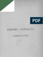 Benot, Eduardo. Prosodia Castellana y Versificación II