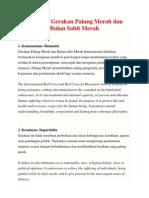 7 Prinsip Gerakan Palang Merah Dan Bulan Sabit