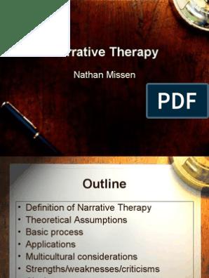 Narrative Therapy Presentation | Psychotherapy | Narrative