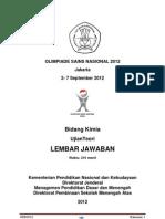 Pembahasan OSN  Kimia 2012