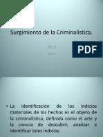 Surgimiento de La Criminalistica
