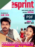 Cinesprint Magazine | Cine Magazine | Cinesprint volume 2 issue 5 | Tamil Wishesh