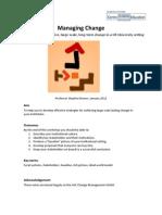 Managing Change Handout Jan 2012