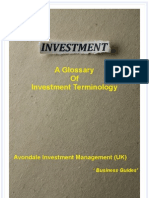 Glossary of Investment Terminology