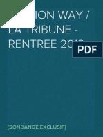 [SONDAGE] OpinionWay / La Tribune - La rentree 2013