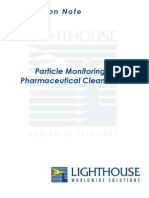 Particle Monitoring in Pharmaceutical Cleanrooms