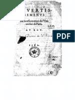 Petrus Ramus - Advertissements Su La Reformation de l'Universite de Paris