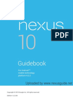 Google Nexus 10 User Manual Guidebook For Android Jelly Bean 4.2.2 (English)