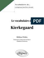 Le Vocabulaire de Kierkegaard_Politis