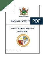 Zimbabwe Energy Policy