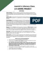 multi genre project descriptions