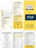 Taste Unlimited Menu
