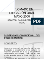 Suspension Condicional Del Procedimiento