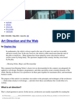 Alistapart Art Direction and the Web