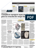 Científicos europeos usan una  bacteria para la creación de orejas humanas