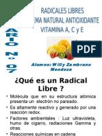 radicales libres, sitema natura antioxidantes, vitaminas ACE