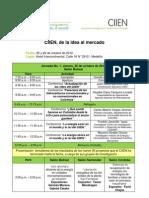 Agenda 5to Encuentro CIIEN_ de La Idea Al Mercado