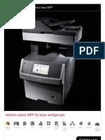 Midshire Business Systems - Lexmark XS748de - Colour Laser MFP Brochure