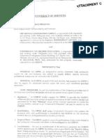 Attachment G Contract