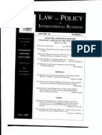 T4 B12 Wolosky- Regulating Terrorism Fdr- Entire Contents- Fall 02 Law and Policy Publication- Cover Scanned for Reference 033