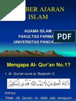 1.Sumber Ajaran Islam