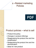 Sales –Related marketing Policies