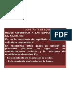 CONSTANTE DE EQUILIBRIO