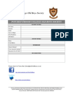 Old Boys Details Form