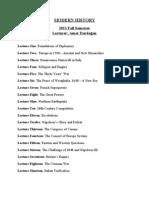 Modern History syllabus