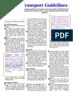 Transport Guidelines Brochure