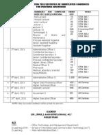 Cbt Schedule