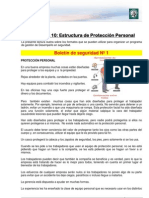 Lectura 10 - Estructura de Protección personal