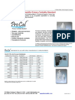 ProCal Turbidity Standards for Hach Turbidimeters
