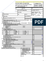 Indian Income tax return form