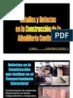 Construcción Albañileria  confinada detalles