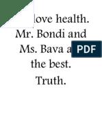 We Love Health